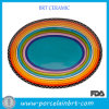 Colorful Sunrise Oval Platter Party Plates