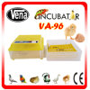 Full Automatic Capacity 96 Chicken Egg Incubator (CE approved)