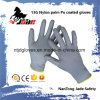 13G Polyester/Nylon Palm Gary PU Coated Glove
