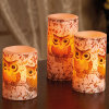 Owl Stickers Flameless Electronic LED Candle for Festival