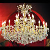 Italian Style Classic Luxury Golden Color Gallery Lighting Maria Theresa Crystal Chandelier 24 Lights