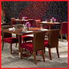 Wooden Restaurant Furniture Set with Square Table and Upholstery Chair