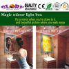 LED Sensor Mirror Light Box for Advertising and Bathroom Decoration