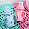 Portable Hand Grip BPA Free Kids Water Bottle Outdoor Water/Juice/Milk Bottle with Straw