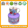 Food Grade Custom Round Tin Metal Gift Box for Mug
