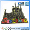 Make Promotional Barcelona Souvenirs Fridge Magnet Thermometer