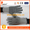 Ddsafety 2017 13G Hppe Glass Fiber Gloves with Spandex Nylon Mixed Black PVC Dots
