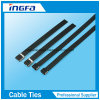 PVC Covered 304 Stainless Steel Cable Tie O Lock Type