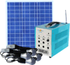 Portable Solar Lighting System with Big Battery and 5PCS Super Bright 5W LED Lamp Szyl-Slk-6130