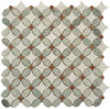 Ming Green Mix Thassos White Flower Pattern Mosaic