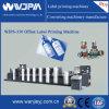 Reel Feed Hot Sale Roll Adhesive Paper Film Label Offset Printing Machine (WJPS-350)