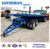 9m 4 Axle Flatbed Drawbar Pulling Dolly Semi Truck Trailer