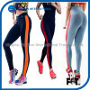 Customized Women Capris Pants with Colorful Stripes Side