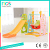 Bright Color Plastic Slide Toy with Swing for Baby (HBS17025A)
