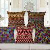 Home Dé Cor Cotton Linen Printed Cushion Cover for Sofa (35C0157)