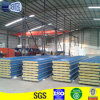 corrugated steel PU rockwool sandwich panel for roof top