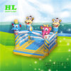 3D Monkey and Elephant Inflatable Bouncer