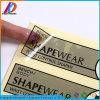 China Waterproof Transparent Vinyl Garment Label Sticker