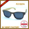 Custom Wooden Sunglasses with Metal Spring (FX15074)