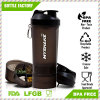 Hot Sale 600ml Plastic Protein Shaker Bottle with Storage