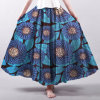 Ladies Fashion Long Skirts African Bohimia Style Custom Print Skirt
