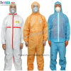 White/Blue Impervious Waterproof Type 5/6 Clothing Microporous PP/SF/PE industry Lab chemical Micro Film SMS Nonwoven Safety Protective Disposable Coverall