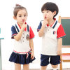 Contact Supplier Chat Now! Latest Western Style Chinlon/Cotton Primary Kindergarden School Kids Uniforms Custom Logo