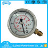 63mm Half Stainless Steel Bottom Thread Type Liquid Filled Pressure Gauge