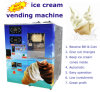 Bill and Coin Operated Automatic Vending Soft Ice Cream Machine