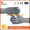 13 Gauge Grey Nylon Shell Grey Nitrile with Mini Dots Glove