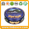 Embossed Round Metal Tin Can Denmark Butter Cookies Tin Box