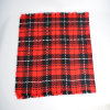 Women′s Acrylic Reversible Cashmere Like Winter Warm Checked Thick Knitted Woven Shawl Scarf (SP263)