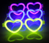Funny Toys Glow Heart Eyeglasses for Party, Christmas