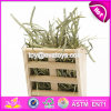 New Products Indoor Pet Accessories Nature Wooden Grass Shelf for Pet W06f024
