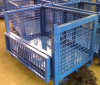 Stackable Steel Wire Mesh Pallet Cage for Warehouse Storage