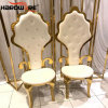 Stainless Steel Armrest High Back King Throne Chair
