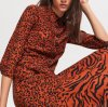 Autumn Holiday Patterned Viscose Maxi Dress for Women