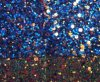 Fancy Glitter PU Leather Fabric for Upholstery Sandals Watchbands Hw-511