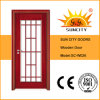 New French Wooden Doors with Wood Grill Design (SC-W026)