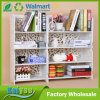Household High Capacity Book Storage Rack White Carved Racks