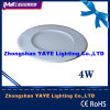 Yaye CE/RoHS Approval Round 4W LED Panel Light / LED Panel Lamp with 2/3 Years Warranty