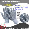 13G PE Knitted Glove with 2-Side PVC Dotted/ En388: 454X