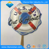Custom Promotion Paper Hand Fan with Wooden Handle
