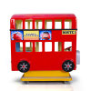 London Bus Coin Operated Kiddie Ride Fiberglass Toys Amusement Game Machine Rides for Kids