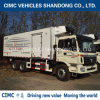 Cimc Insulation Refrigerated Body with 6*4 Foton Chassis with Hydraulic Lifting Plate Refrigerator Truck