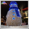 Shopping Mall Beautiful Design LED Light Christmas Snowman Decoration
