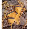 2020 Unique Design Orange Triangle Crochet Knitting Lady Bikini