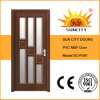 Interior PVC MDF Wooden Glass Design Door (SC-P081)