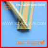 PE Yellow Green Striped Heat Shrink Cable Identification Tubing