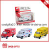 Friction Pull Back Vehicle 1: 43 Diecast Ambulance Truck Toy Cars